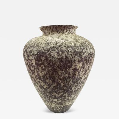 Karl Springer Large Scavo Glass Vase Made in Italy