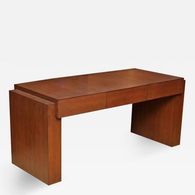 Karl Springer Leather Desk by Karl Springer