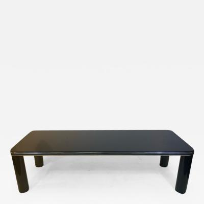 Karl Springer MODERN BLACK MARBLE AND CHROME COFFEE TABLE BY KARL SPRINGER