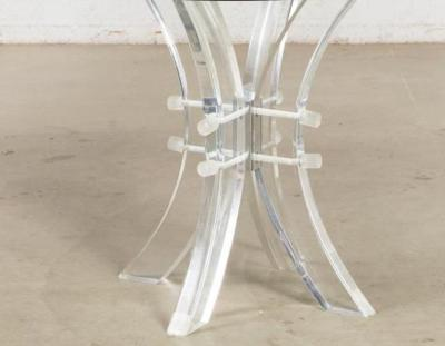 Karl Springer Modern Karl Springer Style Lucite Beveled Glass Circular Breakfast Table