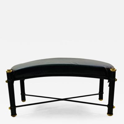 Karl Springer POST MODERN BLACK AND BRASS BENCH