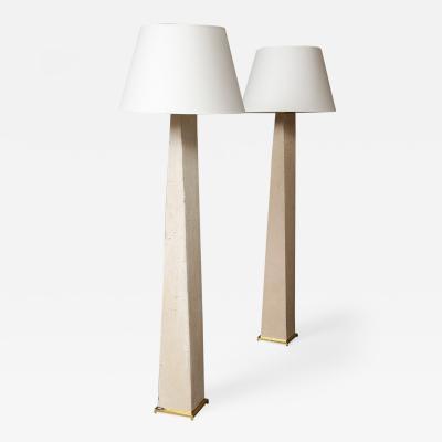 Karl Springer Pair of JMF Floor Lamps