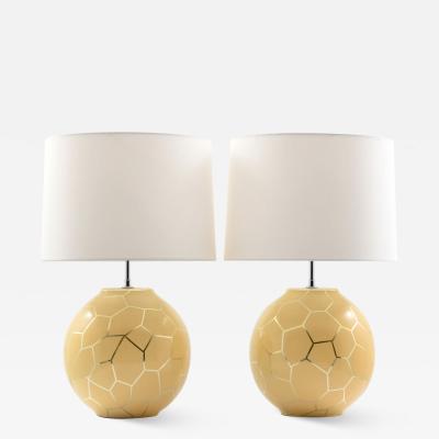 Karl Springer Pair of Karl Springer Lamps
