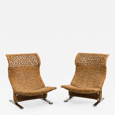 Karl Springer Pair of Lounge Chairs