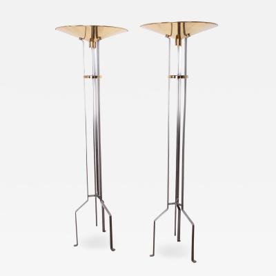 Karl Springer Pair of Touchier Floor Lamps