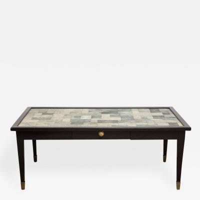Karl Springer Patchwork Shagreen Top Single Drawer Coffee Table