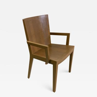 Karl Springer SUITE OF FOUR KARL SPRINGER JMK DINING CHAIRS
