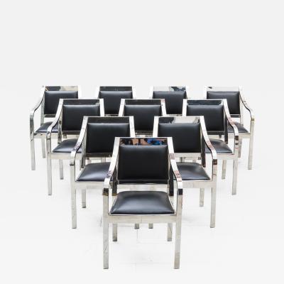 Karl Springer Set of 10 Regency Dining Chairs