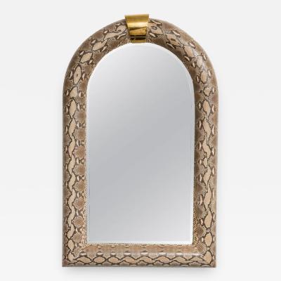 Karl Springer Springer Style Python Wrapped Mirror