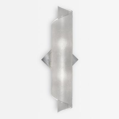 Karl Springer Textured Glass Sconce by Karl Springer