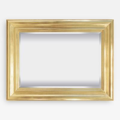 Karl Springer Wall Hanging Gold Leaf Mirror by Karl Springer