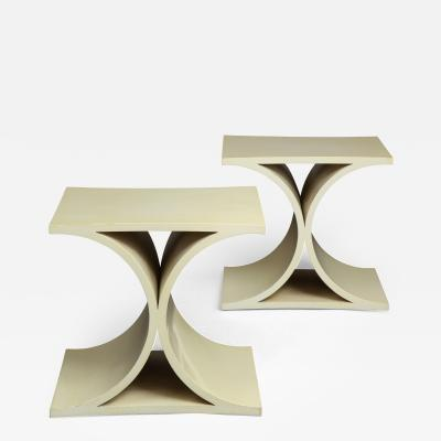 Karl Springer X Base Side Tables