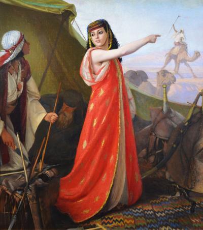 Karl Wilhelm Gentz The Beautiful Sentinel 19th Century French Orientalist Oil Painting