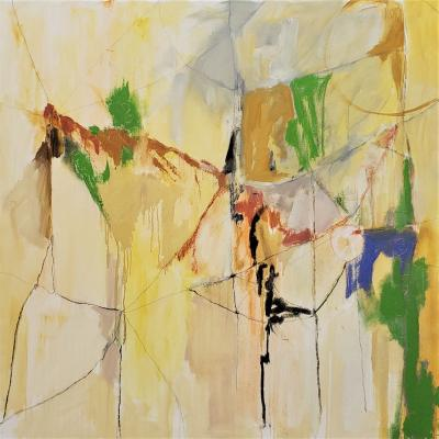 Kathi Robinson Frank Landscape From An Airplane 2021 Abstract Painting By Kathi Robinson Frank