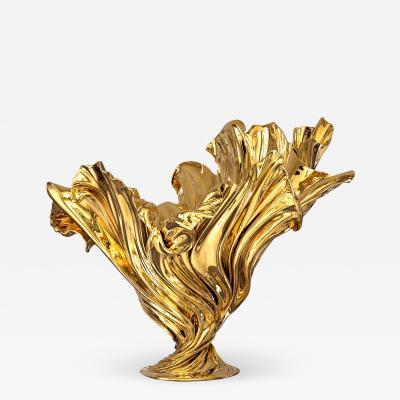 Katz Studio Levitaz Flora Vase Polished Bronze