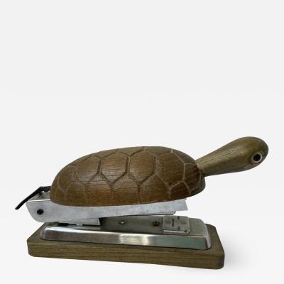 Kay Bojesen 1960s Zoo Line Too Cute Wood Turtle Desk Stapler Style Kay Bojesen Denmark