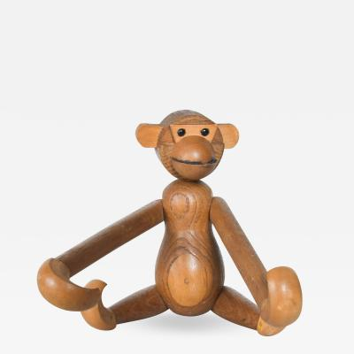 Kay Bojesen Danish Kay Bojesen Era Teak Oak Jointed Wood Toy Big MONKEY 1960s Japan