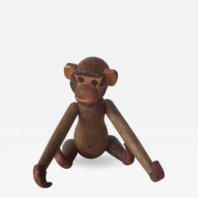 Kay Bojesen Danish Kay Bojesen Style Jointed Teak Wood Toy Baby MONKEY 1960s Japan