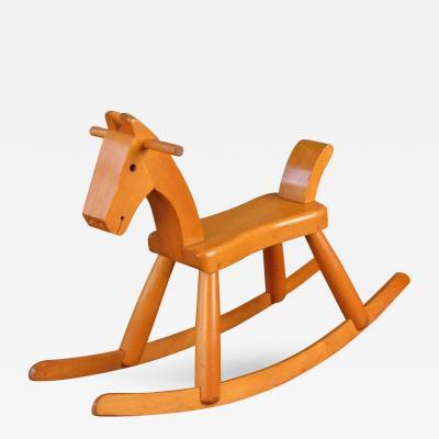 Kay Bojesen Fantastic Rare Childs Rocking Horse by Kay Bojesen Denmark Circa 1940