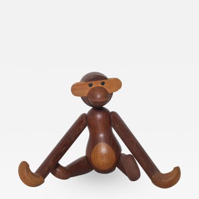 Kay Bojesen Kay Bojesen Cute Wooden Flexible MONKEY TOY in Teak Denmark 1960s