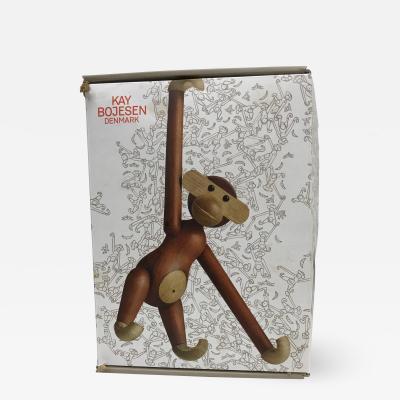 Kay Bojesen Mid Century Danish Modern Teak and Ebony Articulated Monkey by Kay Bojensen