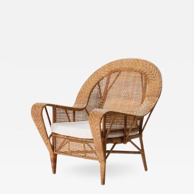 Kay Fisker Kay Fisker Canton Rattan Lounge Chair Denmark 1950s