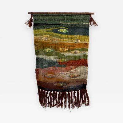 Kay Twiss New Zealand Artist Kay Twiss Wall Hanging Tapestry with Handmade Enameled Insets