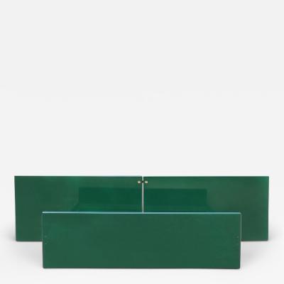 Kazuhide Takahama Kazuhide Takahama Green Lacquered Bed Frame for Simon Dino Gavina Italy 1970s