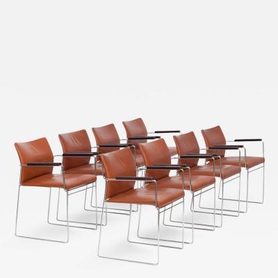 Kazuhide Takahama Set of Eight Cassina Jano Dining Chairs by Kazuhide Takahama