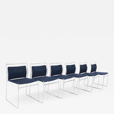 Kazuhide Takahama Set of Six Steel and Cotton Chairs by Kazuhide Takahama