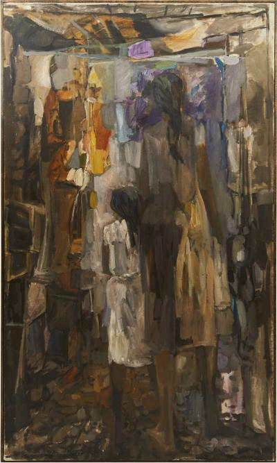 Keith Bruce Finch Keith Finch Large Oil Painting Mother and Child 1919 1993