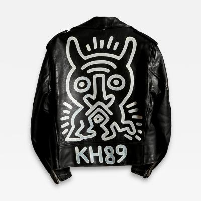 Keith Haring Schott Brothers Motorcycle Jacket Painting