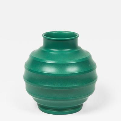 Keith Murray A Green Football Vase by Keith Murray from Wedgwood