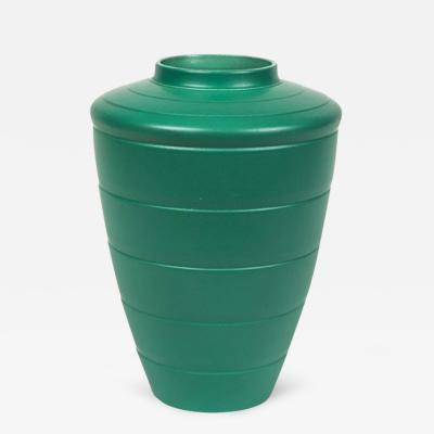 Keith Murray A Green Shoulder Vase by Keith Murrary from Wedgwood