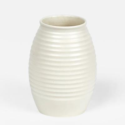 Keith Murray A White Moonstone Grenade Vase by Keith Murray from Wedgwood