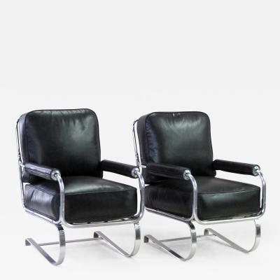 Kem Weber A Rare Pair of American Machine Age Springer Arm Chairs