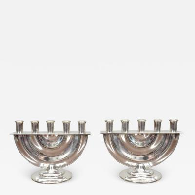 Kem Weber Rare Pair of Five Light Candelabra Attributed to KEM Weber