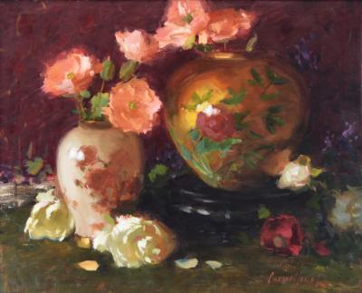 Ken J Cadwallader Poppies and Gold