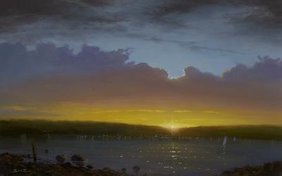 Ken Salaz Sunset over Nyack 7 16 17