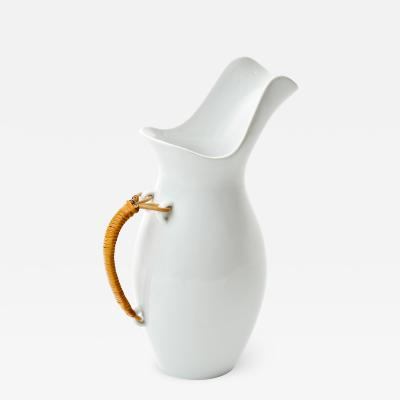 Kenji Fujita Kenji Fujita for Freeman Lederman Large Ceramic Carafe with Cane Handle 1950s