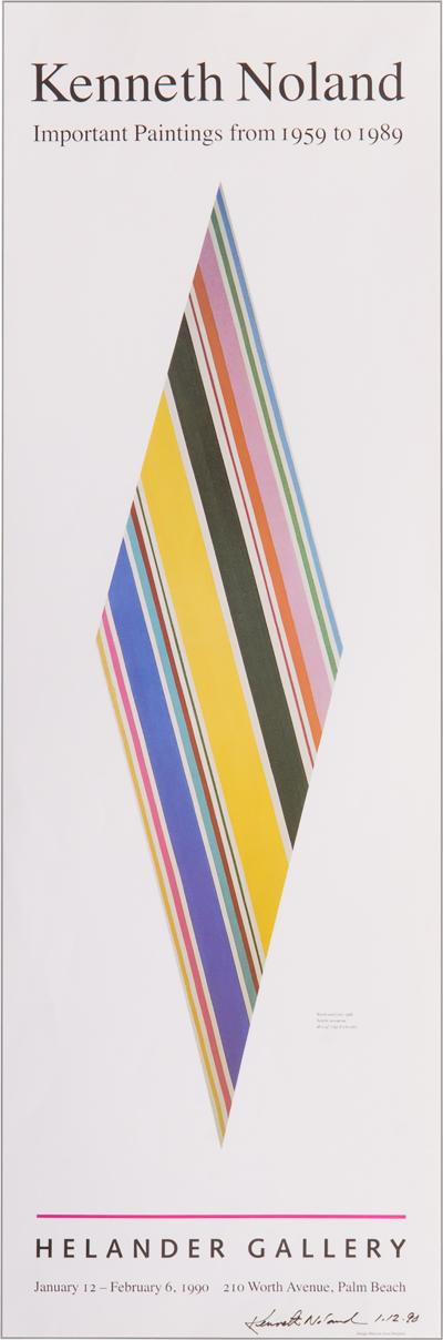 Kenneth Noland Signed Kenneth Noland Poster
