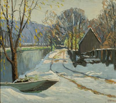 Kenneth R Nunamaker Winter Morning Along the Towpath