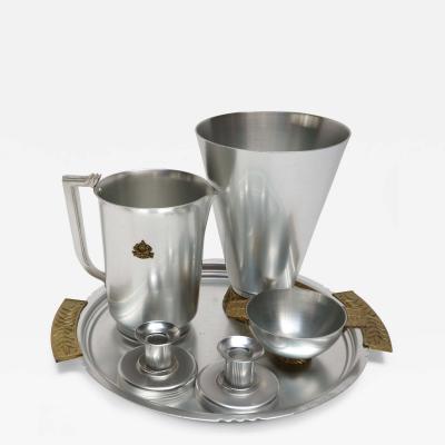 Kensington Furniture Company 6 Piece Kensington Aluminum and Brass Table Accessories