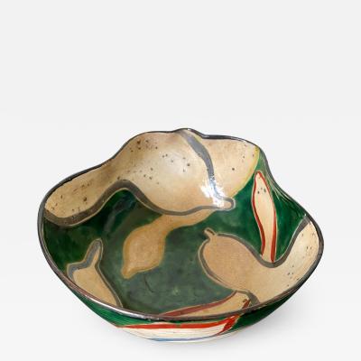 Kenzan Ogata Japanese Ceramic Bowl Meiji Period Style of Ogata Kenzan