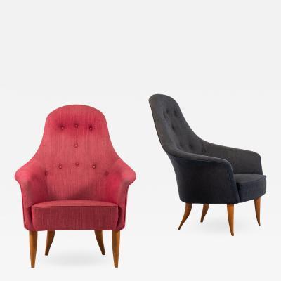 Kerstin H rlin Holmquist Easy Chairs Model Stora Adam Produced by Nordiska Kompaniet