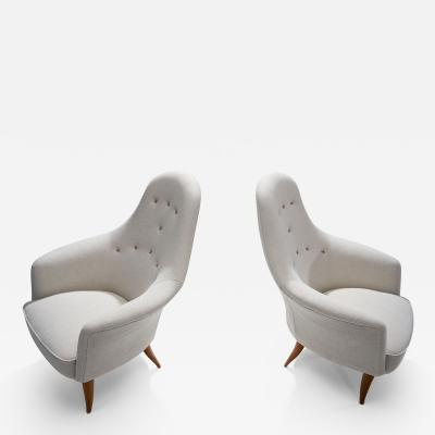 Kerstin H rlin Holmquist Kerstin H rlin Holmquist Pair of Stora Adam Easy Chairs Sweden 1950s