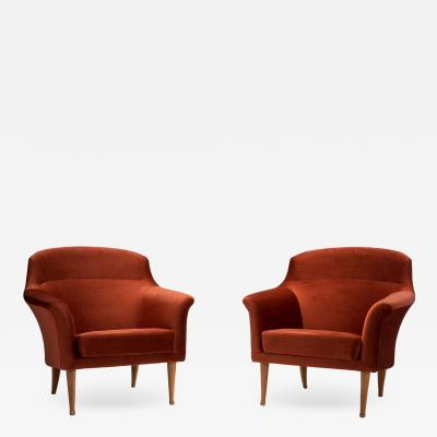 Kerstin H rlin Holmquist Kerstin H rlin Holmquist Pair of Triva Armchairs Sweden 1950s
