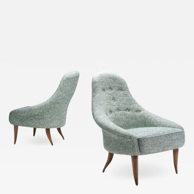 Kerstin H rlin Holmquist Little Eva Easy Chairs by Kerstin H rlin Holmquist Sweden 1950