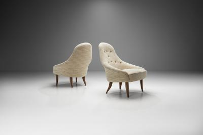 Kerstin H rlin Holmquist Pair of Lilla Eva Chairs by Kerstin H rlin Holmquist Sweden 1950s