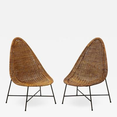 Kerstin H rlin Holmquist Pair of rattan chairs by Kerstin Horlin Holmquist